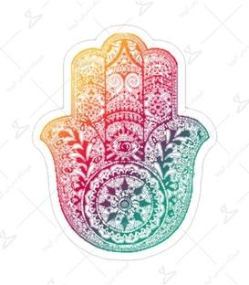 استیکر Lit Art لیت آرت طرح دست خمسه رنگی