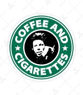 استیکر Lit Art لیت آرت طرح قهوه و سیگار