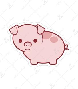 استیکر Lit Art لیت آرت طرح خوک صورتی