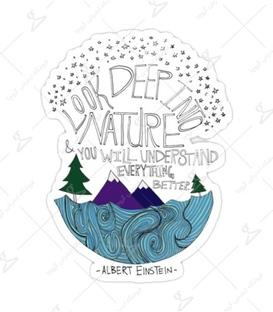 استیکر Lit Art لیت آرت طرح Look Deep Into Nature