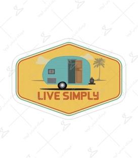 استیکر Lit Art لیت آرت طرح Live Simply