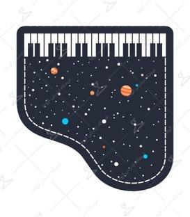 استیکر Lit Art لیت آرت طرح کهکشان در پیانو