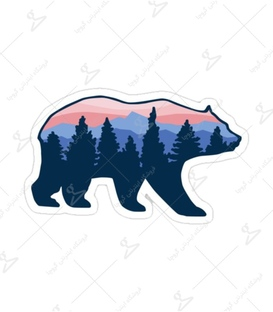 استیکر Lit Art لیت آرت طرح خرس جنگلی