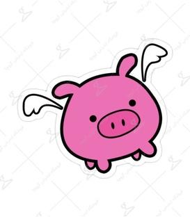 استیکر Lit Art لیت آرت طرح خوک بالدار صورتی