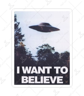 استیکر Lit Art لیت آرت طرح I Want To Believe