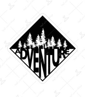 استیکر لیت آرت طرح Adventure
