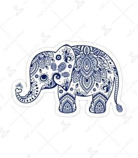 استیکر Lit Art لیت آرت طرح فیل هندی