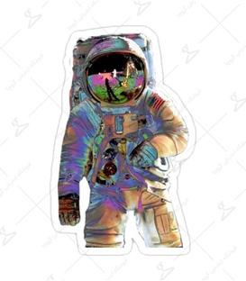 استیکر لیت آرت طرح فضانورد رنگی