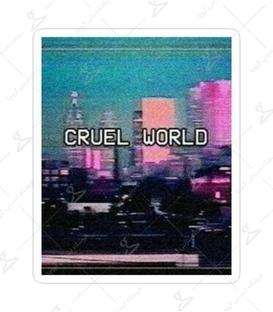 استیکر Lit Art لیت آرت طرح Cruel World