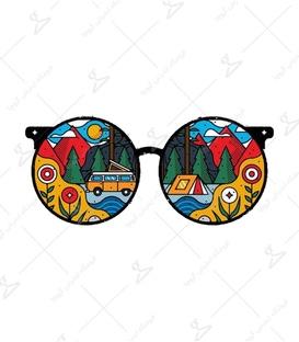 استیکر Lit Art لیت آرت طرح عینک جهانگرد