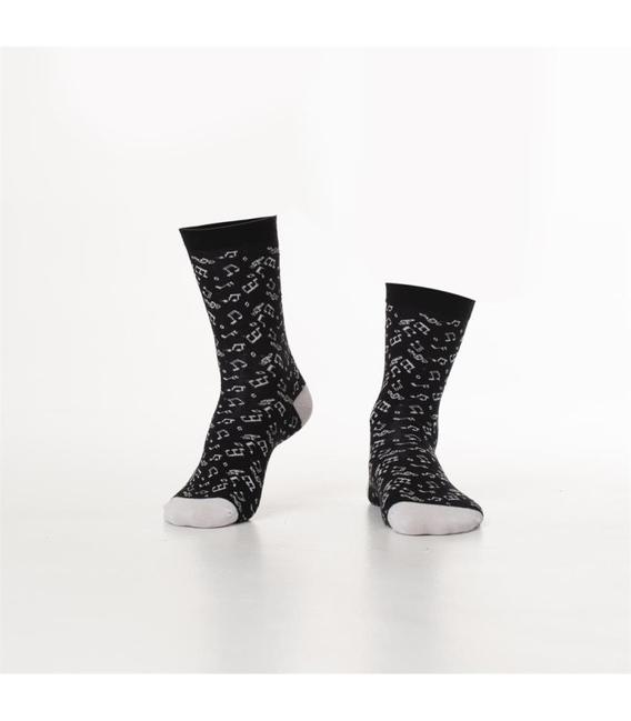 جوراب Özgür ازگور ساقدار طرح موسیقی مشکی