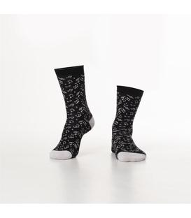 جوراب Özgür ازگور ساق دار طرح موسیقی مشکی