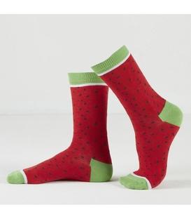 جوراب Özgür ازگور ساقدار طرح هندوانه قرمز