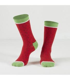 جوراب Özgür ازگور ساق دار طرح هندوانه قرمز