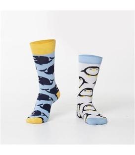 جوراب Özgür ازگور ساقدار لنگه به لنگه طرح نهنگ و پنگوئن