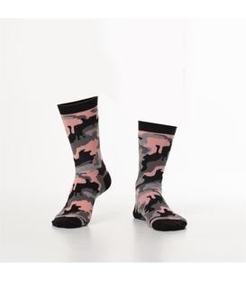 جوراب Özgür ازگور ساق دار طرح ارتشی صورتی