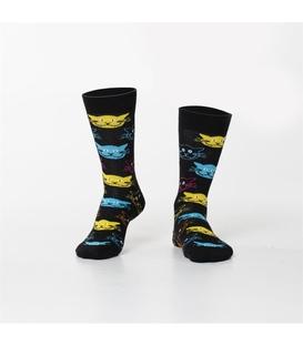 جوراب Özgür ازگور ساق دار طرح گربه مشکی