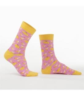 جوراب Özgür ازگور ساقدار طرح موز صورتی
