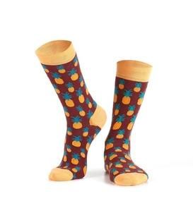 جوراب Özgür ازگور ساق دار طرح آناناس زرشکی