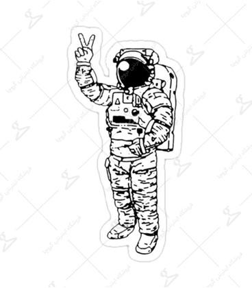 استیکر لیت آرت طرح فضانورد