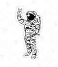 استیکر Lit Art لیت آرت طرح فضانورد