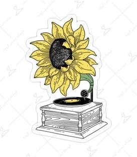 استیکر Lit Art لیت آرت طرح گل گرامافون