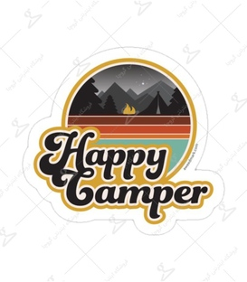 استیکر لیت آرت طرح Happy Camper