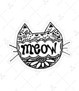 استیکر Lit Art لیت آرت طرح Meow