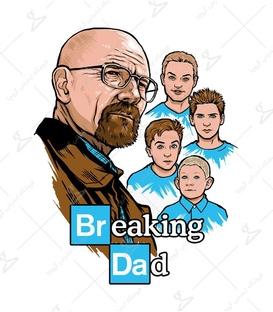 استیکر لیت آرت طرح Breaking Bad