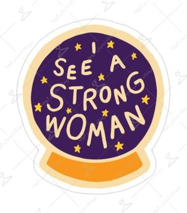 استیکر لیت آرت طرح Strong Woman