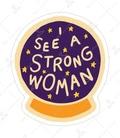 استیکر Lit Art لیت آرت طرح Strong Woman