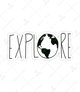 استیکر Lit Art لیت آرت طرح Explore