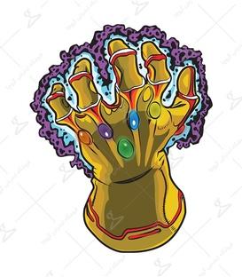 استیکر لیت آرت طرح Thanos