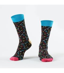جوراب Özgür ازگور ساق دار طرح هندسی مشکی