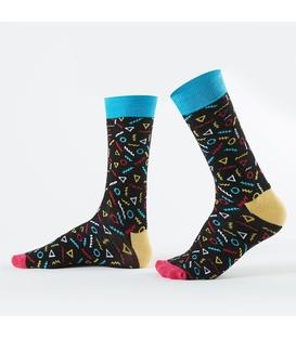 جوراب Özgür ازگور ساقدار طرح هندسی مشکی