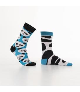 جوراب Özgür ازگور ساقدار لنگه به لنگه طرح پاندا و خال خالی