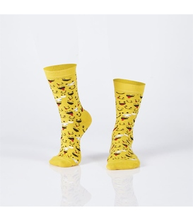 جوراب Özgür ازگور ساق دار طرح ایموجی زرد
