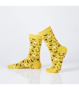 جوراب Özgür ازگور ساقدار طرح ایموجی زرد