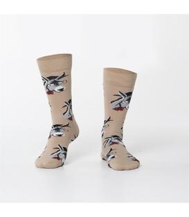 جوراب Özgür ازگور ساق دار طرح الاغ متشخص کرم