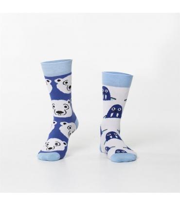 جوراب Özgür ازگور ساقدار لنگه به لنگه طرح خرس و فک دریایی