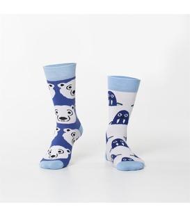 جوراب Özgür ازگور ساق دار لنگه به لنگه طرح خرس و فک دریایی