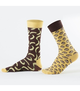 جوراب Özgür ازگور ساقدار لنگه به لنگه طرح میمون و موز