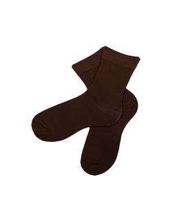 جوراب نخی مردانه ساده قهوهای
