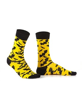 جوراب Özgür ازگور ساقدار طرح خفاش زرد