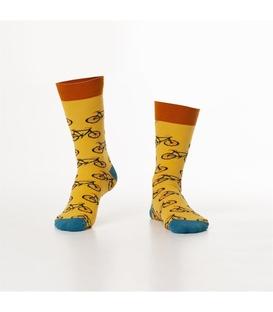 جوراب Özgür ازگور ساق دار طرح دوچرخه زرد