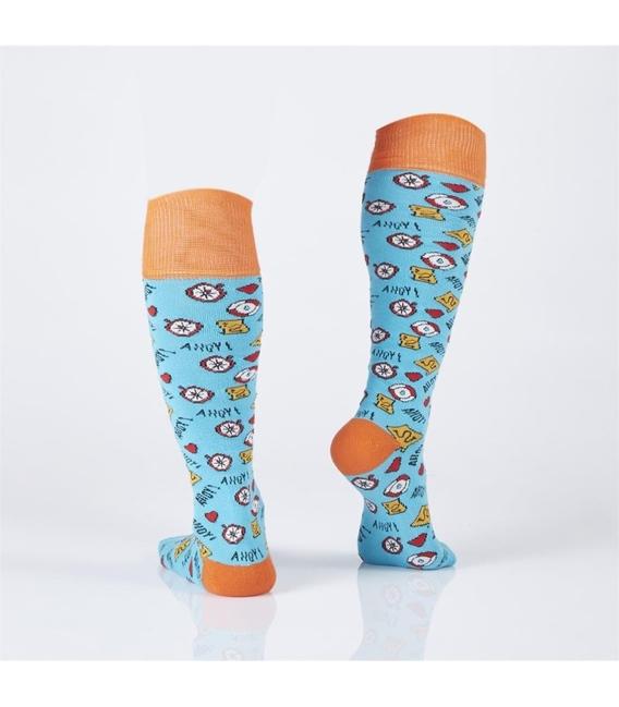 جوراب Özgür ازگور زیر زانو طرح معما آبی
