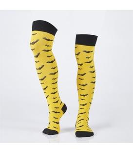 جوراب Özgür ازگور بالای زانو طرح خفاش زرد