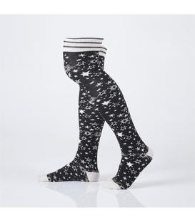 جوراب Özgür ازگور بالای زانو طرح ستاره مشکی