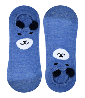 جوراب قوزکی گوشدار طرح خرس سرمهای