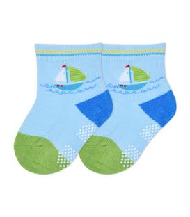 جوراب بچگانه کف استپدار طرح قایق